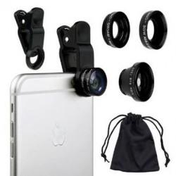 Kit de lentes 3 en 1 para celular